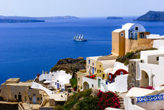 Traditional architecture on Santorini island Royalty Free Stock Image