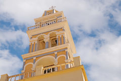 Traditional architecture on Santorini island Stock Photo
