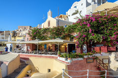 Traditional architecture of Santorini island, Greece Royalty Free Stock Image