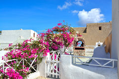 The traditional architecture of Santorini, Oia Royalty Free Stock Photos