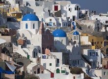 Traditional architecture of Santorini Stock Photo