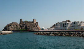 Traditional architecture on the sea front at Muscat Stock Photography