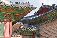 Traditional Architecture in Seoul, South Korea Royalty Free Stock Photos