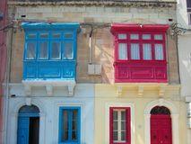 Traditional architecture of Sliema, Malta Stock Image