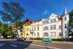 Traditional architecture of Sopot, Poland Royalty Free Stock Photo