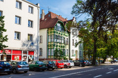Traditional architecture of Sopot, Poland Stock Photo