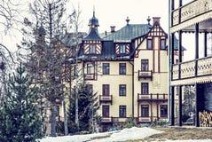 Traditional architecture in Stary Smokovec, High Tatras. Traditional architecture in Stary Smokovec village, High Tatras, Slovak republic. Travel destination royalty free stock photos