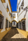 Traditional architecture on the streets of the old town of Ronda. Andalusia. Spain Royalty Free Stock Image