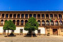 Traditional architecture on the streets of the old town of Ronda. Andalusia. Spain Stock Image