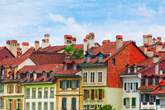 Traditional architecture of Swiss city of Bern Stock Images
