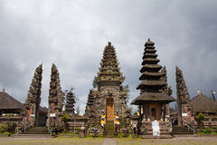 Traditional architecture of temples. Bali Stock Images