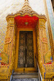 Traditional and architecture Thai style temple at Wat Ratchabophit Temple in Bangkok Royalty Free Stock Photography