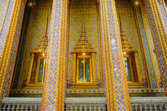 Traditional and architecture Thai style temple at Wat Ratchabophit Temple in Bangkok Stock Photo