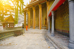 Traditional and architecture Thai style temple at Wat Ratchabophit Temple in Bangkok Stock Photography