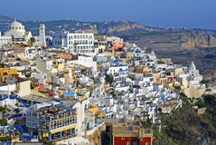 Traditional architecture of Thira village Stock Photo