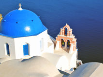 Traditional architecture of Thira village Royalty Free Stock Photo