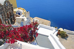 Traditional architecture of Thira village Stock Images