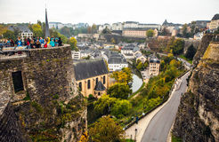 Traditional architecture of vintage European buildings in Luxembourg Stock Images