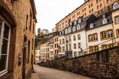 Traditional architecture of vintage European buildings in Luxembourg Stock Photography
