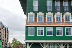 Traditional architecture of the Zaan region Stock Photos