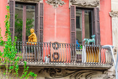 Traditional architectures in Barcelona, Catalonia, Spain. Barcelona Attractions: traditional architectures in Barcelona, Catalonia, Spain royalty free stock image