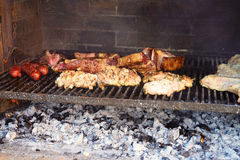 Traditional Argentinian Asado Stock Photo