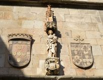 City arms. Traditional arms architecture style at Braga, Portugal Royalty Free Stock Photo