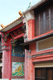 Traditional art of a chinese house. Traditional chinese house with details art window Royalty Free Stock Images