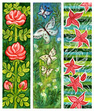 Traditional art floral banners Stock Image