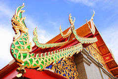 The traditional art of Thai temple Stock Images