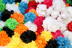 Traditional artificial flowers for hair ornaments. Malaga, Andalusia, Spain Royalty Free Stock Photos