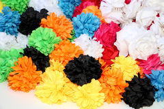 Traditional artificial flowers for hair ornaments Stock Photos