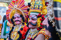Traditional artist performing Yakshagana Stock Images