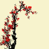 Traditional Artistic plum blossom Pattern Stock Photos