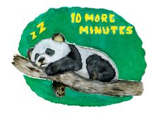 b01474fe13a Sleeping Panda Bear with an Everyday Message from All of Us vector  illustration