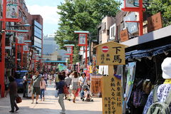 Traditional Asakusa Shopping Street Royalty Free Stock Photos