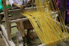 Traditional Asia loom detail Royalty Free Stock Photography
