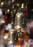 Traditional asian bells at the market place. Royalty Free Stock Photo