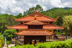 Traditional Asian Building in Vietnam Stock Photo