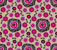 Traditional asian carpet embroidery Suzanne. Royalty Free Stock Photo