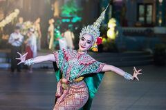 Traditional asian dancer
