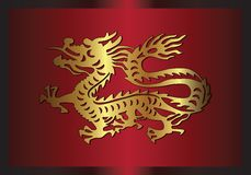 Traditional Asian dragon, 2012 Royalty Free Stock Photos