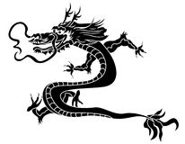 Traditional asian dragon stencil Royalty Free Stock Photo