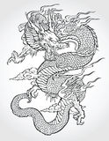 Traditional Asian Dragon. Vector illustration Stock Images