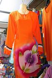 Traditional asian fabrics Royalty Free Stock Image