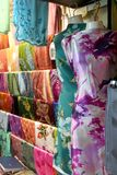 Traditional asian fabrics Stock Images