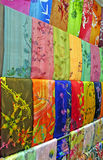Traditional asian fabrics Royalty Free Stock Photo
