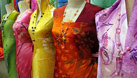 Traditional asian fabrics Stock Photography