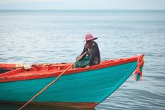 Traditional asian fishing Royalty Free Stock Image