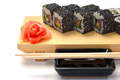 Traditional Asian food sushi Stock Photography
